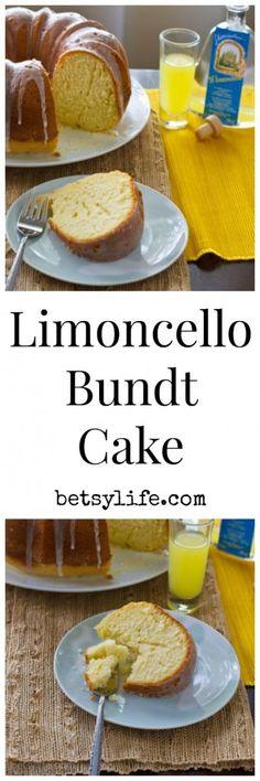 Limoncello Bundt Cake. Who doesn't love a boozy dessert recipe?