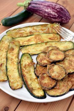 Cukinia i bakłażan w jajku Fodmap, Eggplant, Zucchini, Grilling, Food And Drink, Healthy Recipes, Vegetables, Cooking, Fitness