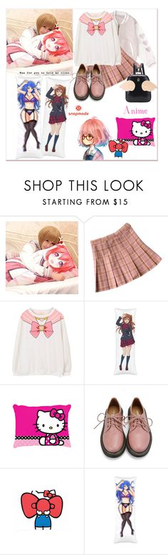 """""""Anime"""" by tattooedmum ❤ liked on Polyvore featuring cutekawaii, Retrò, anime, hellokitty, contestentry and snapmade"""
