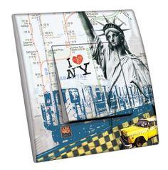 Interrupteur décoré Villes - Voyages / NY 3 simple - Decorupteur