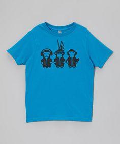 Dark Turquoise Monkeys Tee - Toddler & Boys #zulily #zulilyfinds