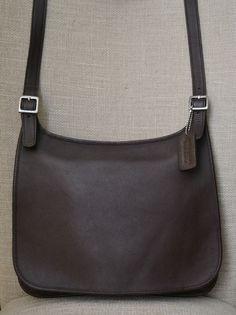 Coach Vintage Hippie Flap Brown Leather Cross-body Saddle Bag Purse 9134   Coach   9b3f5ad8356f3