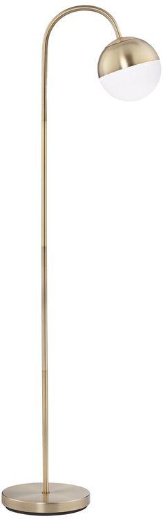 Carlton Globe Brass Finish LED Floor Lamp - #15A06 | Lamps Plus