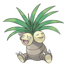 """Exeggutor - 103 - Its three heads think independently. However, they are friendly and never appear to squabble. It is called """"""""The Walking Jungle."""""""" If a head grows  too big, it falls off and becomes an Exeggcute.  @PokeMasters"""
