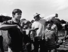 On the set of Stand By Me 1986