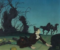 Douglass Crockwell (1904-1968) -The Legend of Sleepy Hollow-