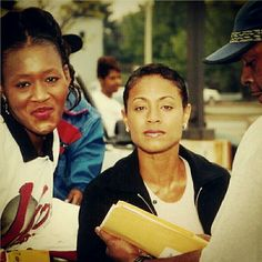Yes, she is my friend and a rockstar in a band. Actress Jada Pinkett-Smith's mom was the Director of the same medical center I was Pharmacy Manager at in Baltimore back in the 90's. Here I am visiting her on the set of her movie The Nutty Professor.