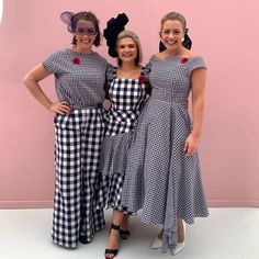 Explore the Seppelt Stakes Day navy and white gingham custom made outfits of 2019 for the Two Sewing Sisters and Sophia Rasch Stakes Day, Spring Racing Carnival, Gingham Dress, Bridesmaid Dresses, Wedding Dresses, Navy And White, Custom Made, Sisters, Two By Two