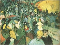 Spectators in the Arena at Arles by Vincent Van Gogh Painting, Oil on Canvas Arles: December, 1888