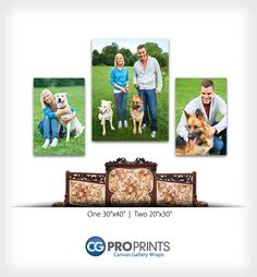 I prefer lined up - but another good example of a grouping Canvas Gallery Wrap Groupings. Professional Photographer Inspiration.