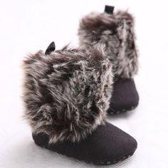 Baby Girl Shoes Winter Warm Snow Toddler Soft Sole Boots Infant Prewalker 11cm | eBay
