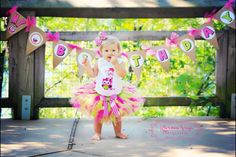 Baby Girl 1st Birthday Tutu Outfit Owl Tutu by ChristiCreations