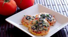 Polenta Mini Pizzas with Mushrooms & Olives