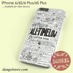 All Time Low Lyrics 1 Phone case for iPhone 6/6s/6 Plus/6S plus