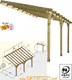 The wooden pergola is a good solution to add beauty to your garden. If you are not ready to spend thousands of dollars for building a cozy pergola then you may devise new strategies of trying out something different so that you can re Diy Pergola, Pergola With Roof, Wooden Pergola, Outdoor Pergola, Patio Roof, Pergola Kits, Outdoor Spaces, Gazebo, Outdoor Living