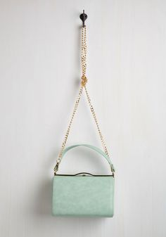 Tearoom with a View Bag. The garden outside the window sure is lovely, but, seated inside with your pastel handbag, youre the prettiest sight! #mint #modcloth