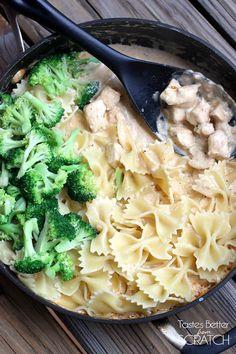 Cajun Chicken Alfredo Pasta recipe on TastesBetterFromScratch.com