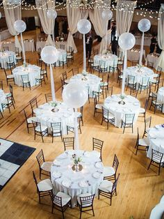 Our customer, @Inside Decor Rental Inc , located in Dubuque, Iowa shared these images of a wedding reception they decorated using 3' clear balloons for table centerpieces! The balloons and decorations are gorgeous! Thank you so much for sharing!