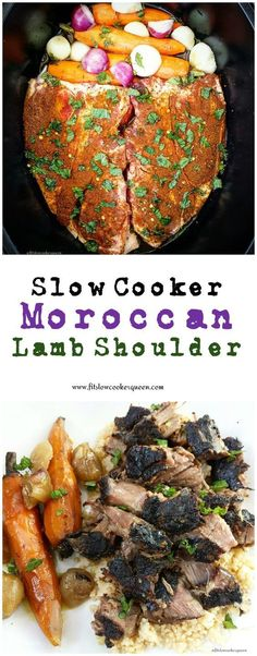 Slow Cooker Moroccan Lamb (Low-Carb, Paleo, - Fit Slow Cooker Queen Lamb, spices, and a few vegetables are all you need for this simple slow cooker recipe. Combined these ingredients bring Morocco to your kitchen. Crock Pot Recipes, Lamb Recipes, Slow Cooker Recipes, Cooking Recipes, Healthy Recipes, Savoury Recipes, Crockpot Ideas, Whole30 Recipes, Slow Cooking