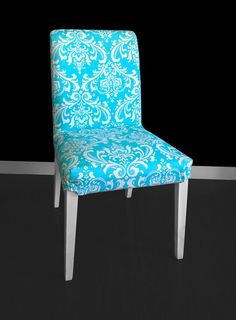 IKEA HENRIKSDAL Dining Chair Cover  Ozborne Girly Blue by RockinCushions