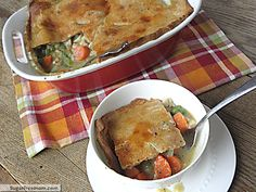 Healthier Turkey Pot Pie - 5 Points plus. Pinner says ..This was great. A hit with the family. I used this recipe to make 2 pies instead of one and froze one.