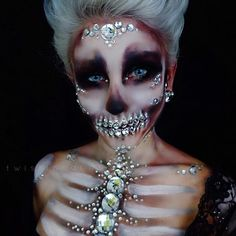 "ive been a bit slow with new looks so heres a different angle of my rhinestone skull from halloween:) ill be slangin' all the sparkly things tonight so check out my snapchat for updates ""coriewillet"" or keep an eye for less frequent updates on IG stories:)"