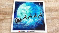 Santa in Town   Christmas Acrylic Painting   Joy of Art #189 Painting & Drawing, Tube, Santa, Joy, Drawings, Christmas, Xmas, Glee, Sketches