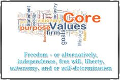 Freedom - or alternatively, independence, free will, liberty, autonomy, andor self-determination As your highest priority value of life, Try Online Values Elicitation Test A Test Which Gives You Your Own Personal Work Career or Relationship Values Today  http://www.values-test.com/