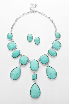Howlite Isabella Necklace in Silver