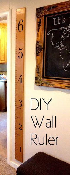 crafti, craft thought, craft idea, wall ruler, diy wall, becki