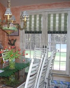 This is an idea for me patio doors -- images of window treatments with roman blinds   Custom Window Treatments - traditional - roman blinds - boston - by ...