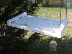 Hanging Wine Glass Holder  Farmhouse Wine Glass by AtticJoys1