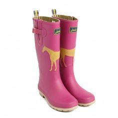 Wondering if they do these in any other colour. So not a pink girl! Joules Winstanley Pink Ladies Wellies - Horse Print | GardenXL.com