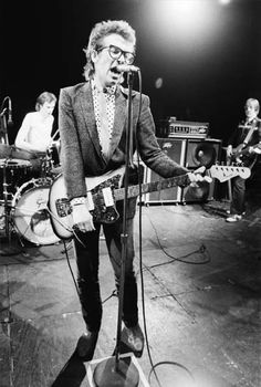 Elvis Costello & the Attractions, 1979, by Keith Morris (I want this blazer!!)