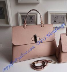 f5d4160a2 Gucci Bamboo Daily Leather Top Handle Bag Pink sale at USD402.00 - Free  Worldwide