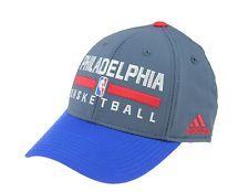 c3b3bcff95fb0 Adidas NBA Men s Philadelphia 76ers 2015 Practice Flex Cap