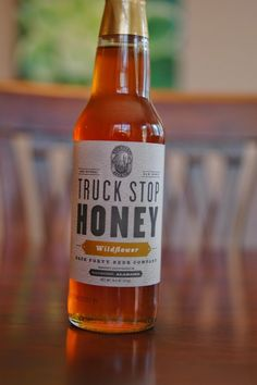 This is actual honey not beer but its sold by Alabama brewery Back Forty. They use it to make their Truck Stop Honey Ale.
