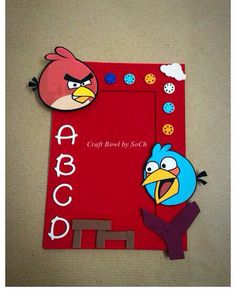 Angry Bird theme Magnetic photo Frame