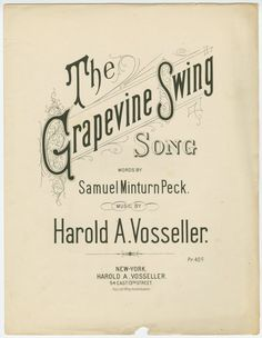 """""""The Grapevine Swing"""" ~ 1891  My brother and I used to have a grapevine swing in the woods :)"""