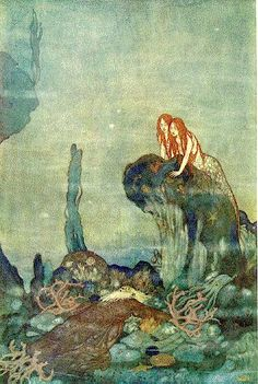 ♒ Mermaids Among Us ♒ art photography & paintings of sea sirens & water maidens - Under the sea.....Edmund Dulac