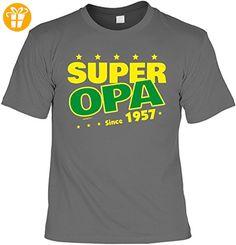 T-Shirt zum 60. Geburtstag Super Opa Since 1957 Geschenk zum 60 Geburtstag 60 Jahre Geburtstagsgeschenk 60-jähriger Gr: XL (*Partner-Link)