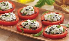 A lighter version of this classic Italian appetizer! Italian Tomatoes with Herbed Cheese | Daisy Brand.