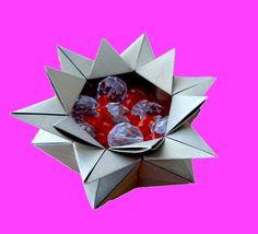 6 Points Star Vase - Origami Star candy box - Bowl
