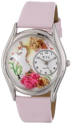 Whimsical Watches Women`s Unicorn Pink Leather Watch