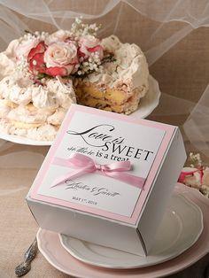 5 X 4 Cake Slice Favor Boxes Set Of 50 Wedding Plans