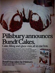 1972 Pillsbury Bundt Cake Mix.