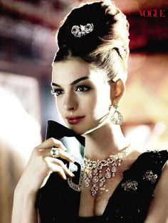 Anne Hathaway in a Vogue shoot as Audrey Hepburn. Gorgeous!
