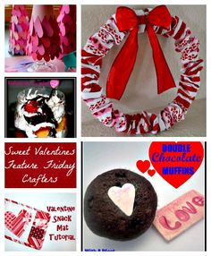 5 Sweet Valentine Crafters- kid craft, wreath, two desserts and snack mat