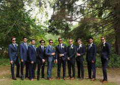 Milwaukee, Wisconsin Wedding Photography by Samantha Irene Photography - My Bridal Pix Network - Groomsmen in blue