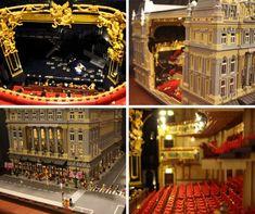 JanetVanD's amazing Lego version of Her Majesty's Theatre, London. #Lego #London #LegoCollectors #LegoDesign